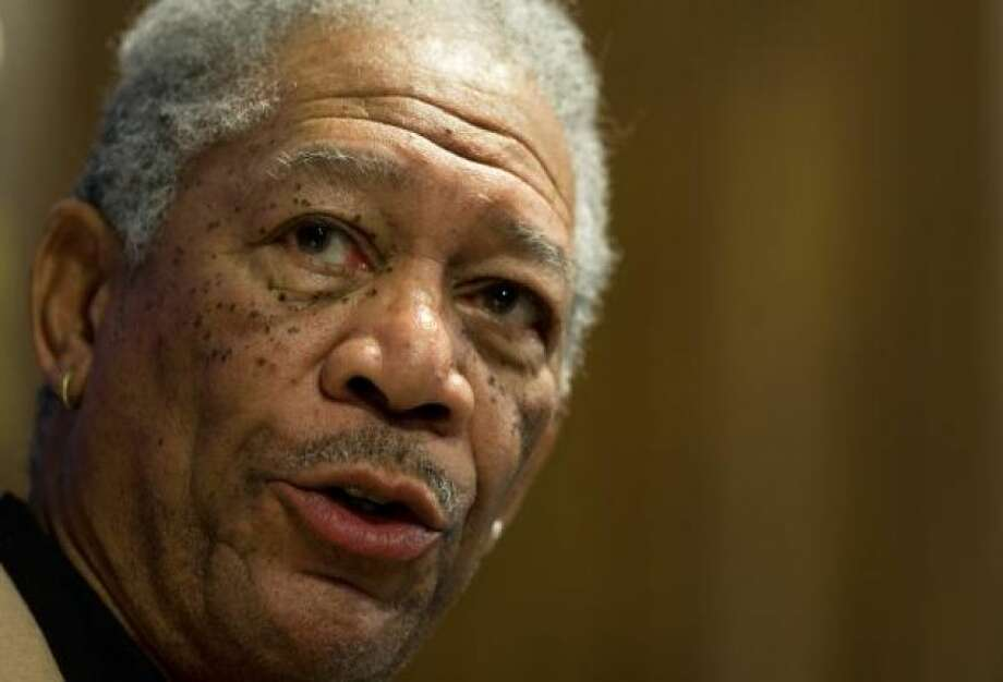 Morgan Freeman with barely a mustachePHOTO BY PAUL J. RICHARDS/AFP/GETTY IMAGES