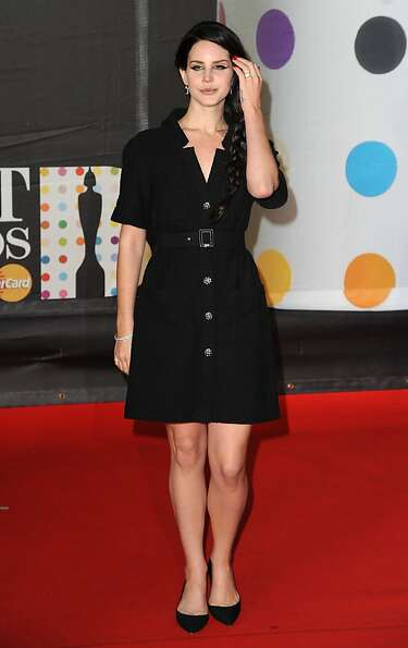 LONDON, ENGLAND - FEBRUARY 20: Lana Del Ray attends the Brit Awards 2013 at the 02 Arena on February