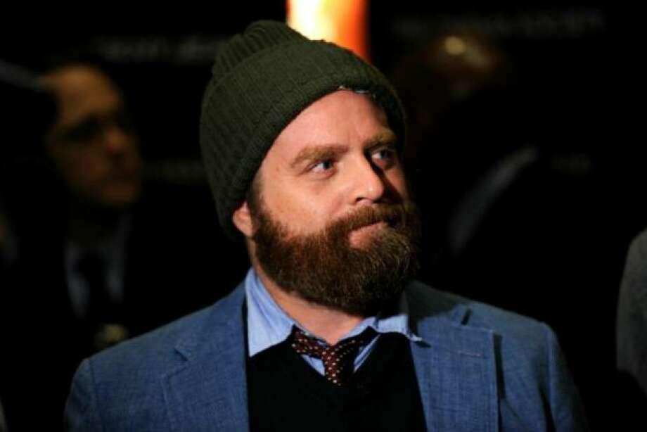 Comedian Zach Galifianakis with his signature, bushy beardPHOTO BY STEPHEN LOVEKIN/GETTY IMAGES