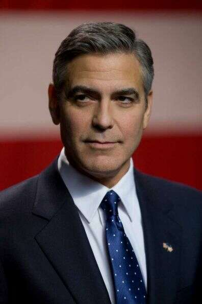 George Clooney with the beardless face we all know and love.PHOTO BY SAEED ADYANI