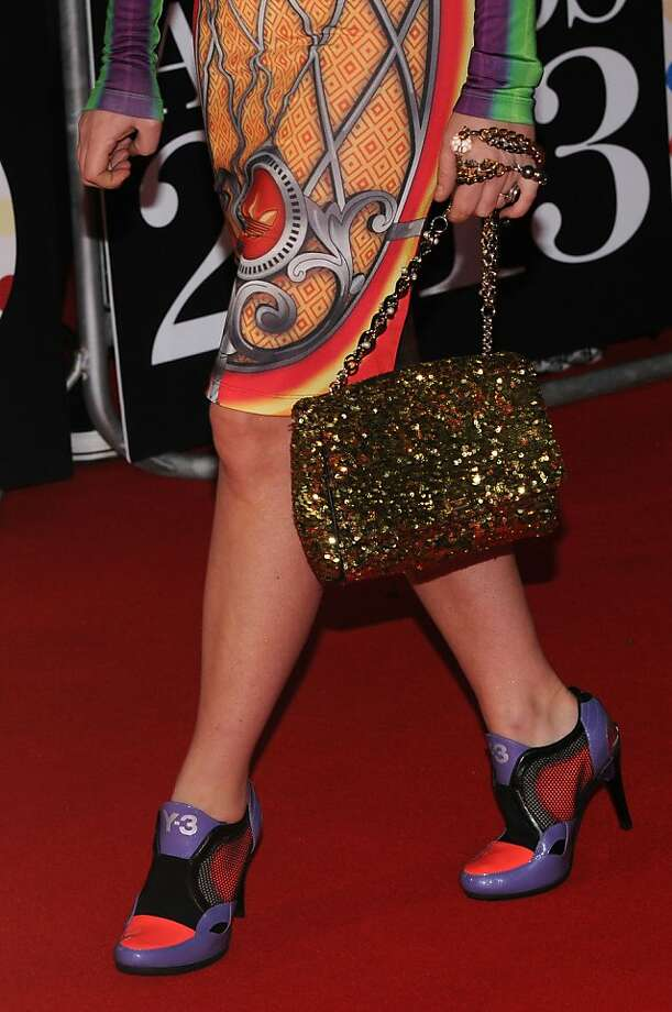 LONDON, ENGLAND - FEBRUARY 20:  Jaime Winstone (shoe detail) attends the Brit Awards 2013 at the 02 Arena on February 20, 2013 in London, England.  (Photo by Eamonn McCormack/Getty Images) Photo: Eamonn McCormack, Getty Images