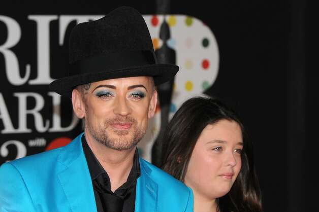 LONDON, ENGLAND - FEBRUARY 20:  Boy George (L) attends the Brit Awards 2013 at the 02 Arena on February 20, 2013 in London, England.  (Photo by Eamonn McCormack/Getty Images) Photo: Eamonn McCormack, Getty Images