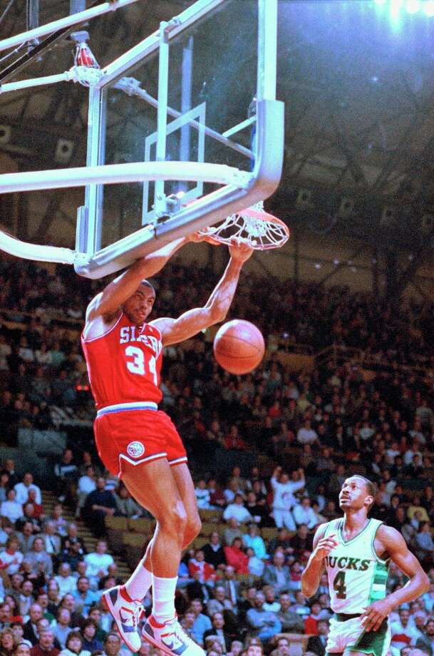 During his Sixers days, Barkley was known for his thunderous dunks.