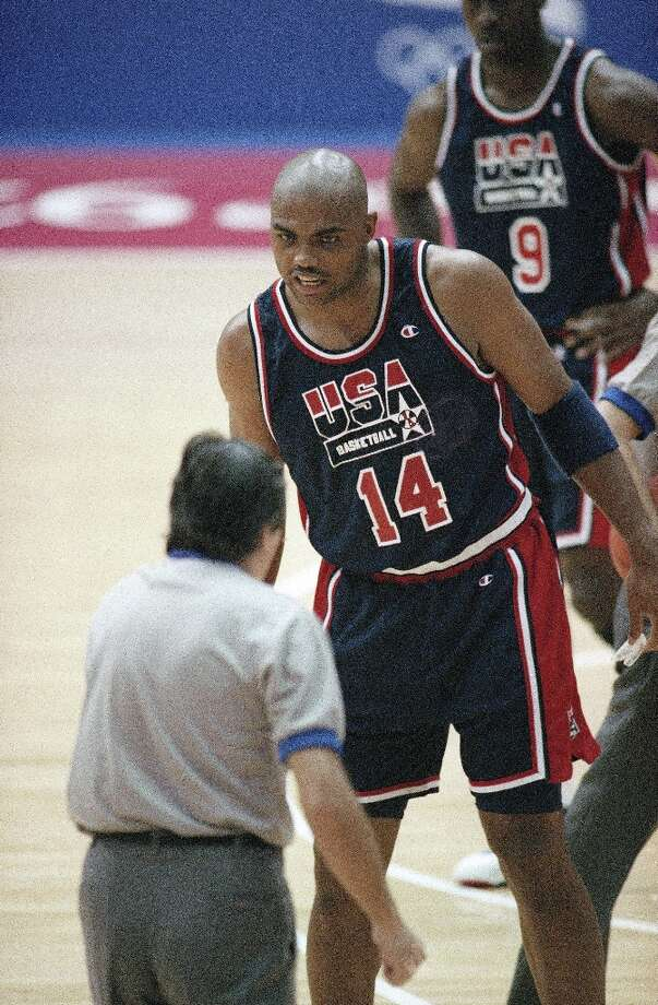 Averaging 18 points a game, Barkley (not MJ), was the Dream Team's leading scorer. The NBA superstar-laden team won the 1992 gold medal in Barcelona.