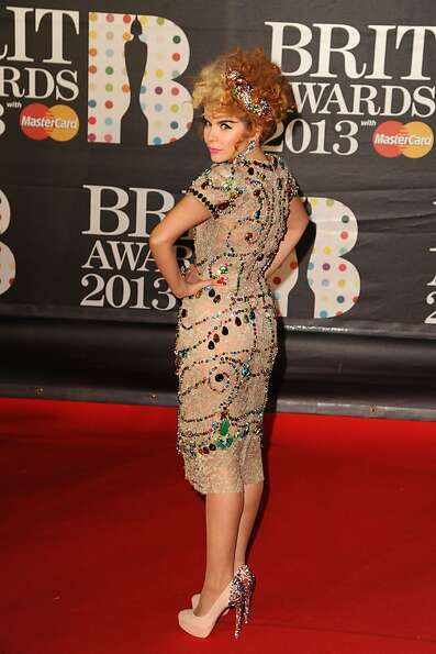 LONDON, ENGLAND - FEBRUARY 20:  Paloma Faith attends the Brit Awards 2013 at the 02 Arena on Februar