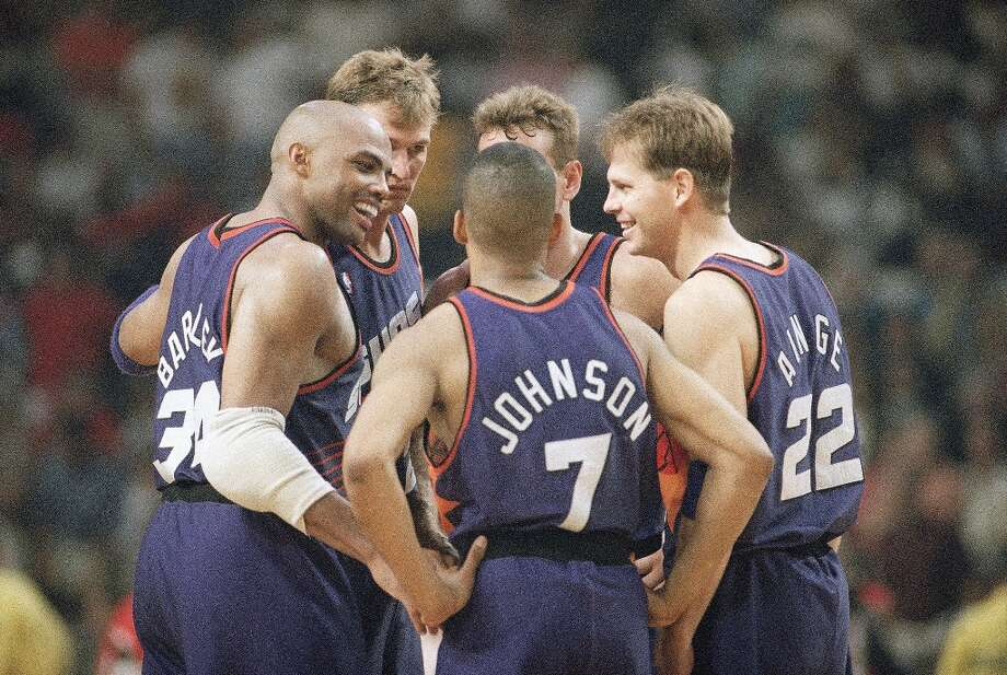 Surrounded by a cast that included Kevin Johnson, Dan Majerle, Danny Ainge and Tom Chambers, Barkley led the Suns to a league-best 62-20 record en route to winning the 1992-93 MVP award.