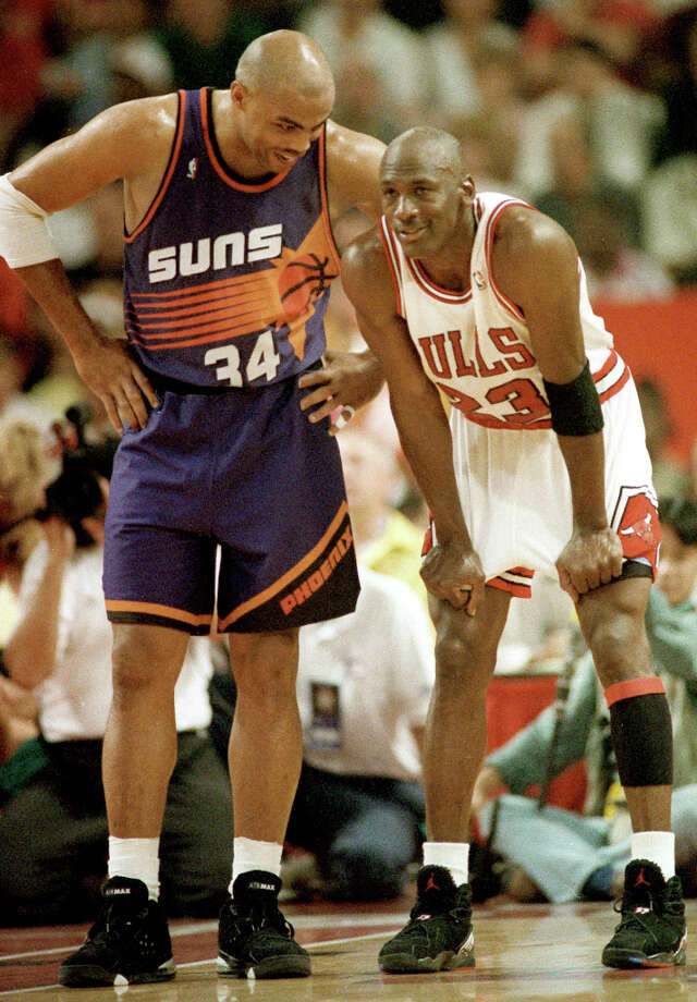 In his lone trip to the Finals, Barkley played against his longtime friend Michael Jordan and his two-time defending champion Chicago Bulls. Photo: JOHN SWART, AP / AP