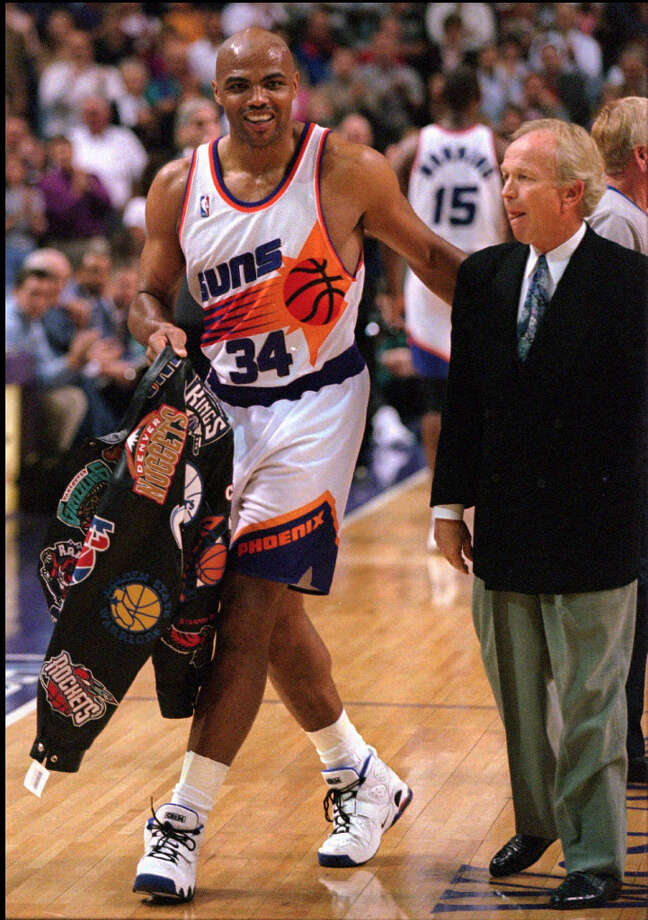 Barkley notched his 10,000th rebound on Feb. 19, 1996. Photo: ERIC DROTTER, AP / AP