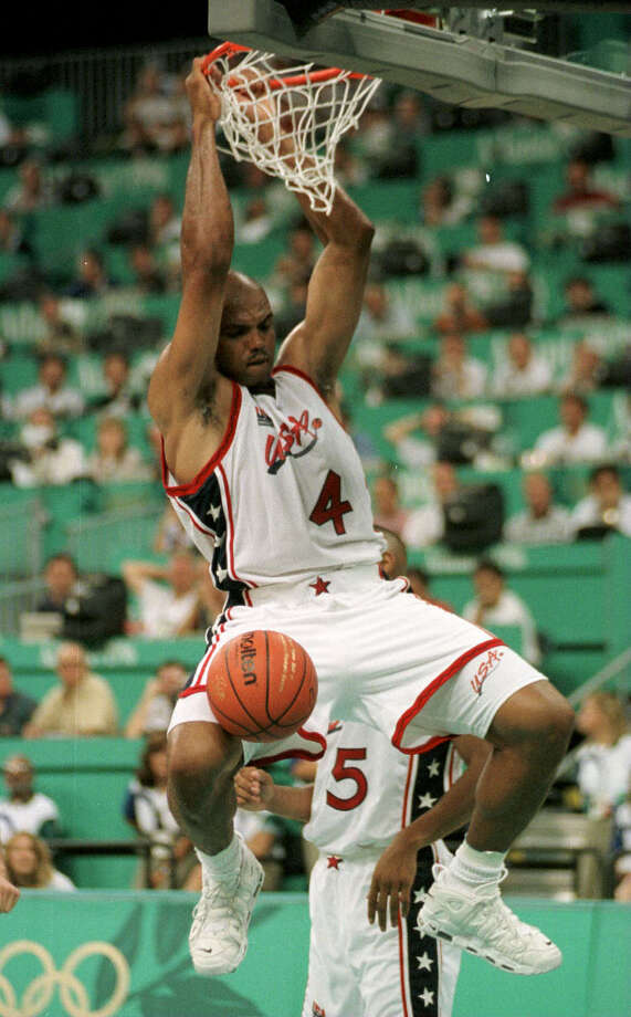 Barkley earned a second gold medal for his country in the 1996 Olympics. Photo: Smiley N. Pool, Houston Chronicle / Houston Chronicle