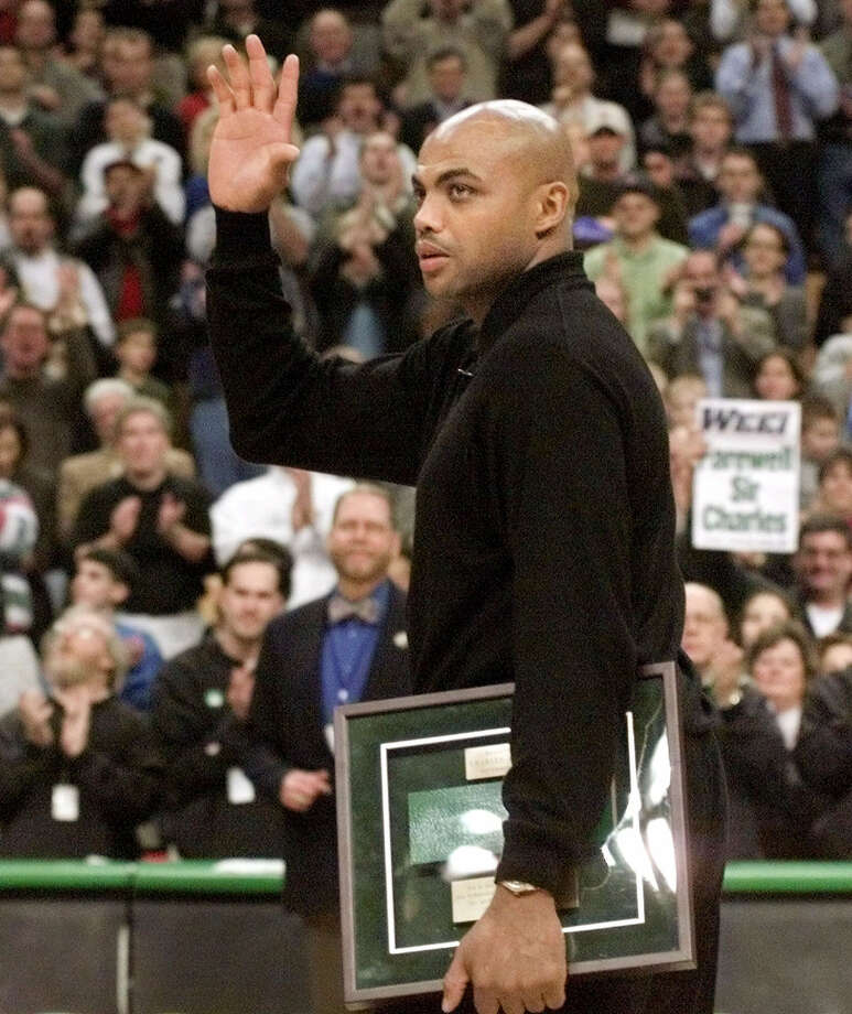 On Dec. 11, 1999 the Celtics honored Barkley when the Rockets played in Boston. Photo: STEPHAN SAVOIA, AP / AP