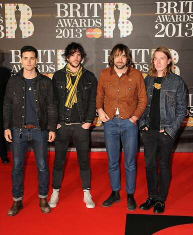 LONDON, ENGLAND - FEBRUARY 20:  (L - R) Arni Hjorvar, Pete Robertson, Justin Young and Freddie Cowan of The Vaccines attend the Brit Awards 2013 at the 02 Arena on February 20, 2013 in London, England.  (Photo by Eamonn McCormack/Getty Images) Photo: Eamonn McCormack, Getty Images