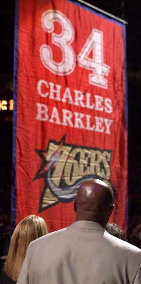 The Sixers retired Barkley's No. 34 on March 30, 2001.