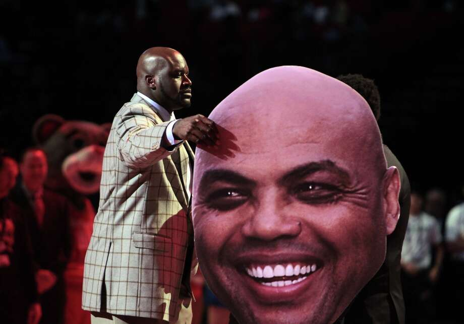 Barkley does provide some valuable insight when on television, but his co-broadcasters Shaquille O'Neal and former Rockets guard Kenny Smith tend to spend time goofing off. Photo: James Nielsen / © Houston Chronicle 2013