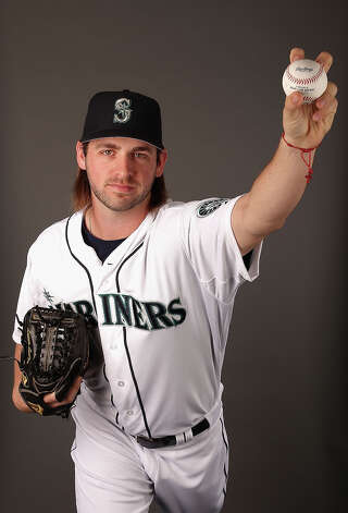 Lucas Luetge #44 of the Seattle Mariners poses for a portrait during spring training photo day at Peoria Stadium on February 19, 2013, in Peoria, Arizona. Photo: Christian Petersen, Getty Images / 2013 Getty Images