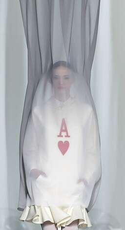 What we like to call the 'Hester Prynne': A model displays an autumn/winter design by David Delfin during Madrid Fashion Week. Photo: Daniel Ochoa De Olza, Associated Press