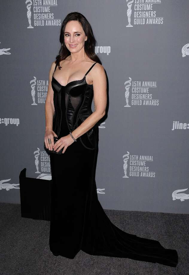 Madeleine Stowe arrives at the 15th Annual Costume Designers Guild Awards at The Beverly Hilton Hotel on Tuesday, Feb. 19, 2013 in Beverly Hills. (Photo by Jordan Strauss/Invision/AP) Photo: Jordan Strauss, Associated Press / Invision