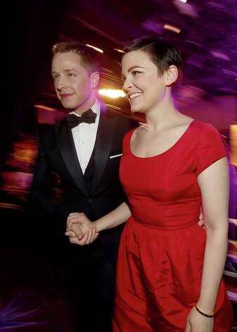 Presenter Ginnifer Goodwin (R) and actor Josh Dallas attend the 15th Annual Costume Designers Guild Awards with presenting sponsor Lacoste at The Beverly Hilton Hotel on February 19, 2013 in Beverly Hills, California. Photo: Christopher Polk, Getty Images For CDG / 2013 Getty Images