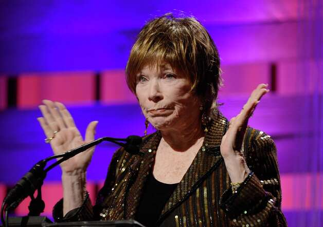 Presenter Shirley MacLaine speaks onstage during the 15th Annual Costume Designers Guild Awards with presenting sponsor Lacoste at The Beverly Hilton Hotel on February 19, 2013 in Beverly Hills, California. Photo: Frazer Harrison, Getty Images For CDG / 2013 Getty Images