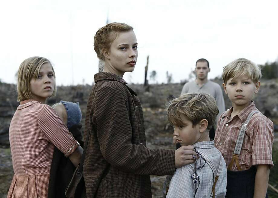 Saskia Rosendahl (tallest girl) plays a teen who leads her siblings on a journey during World War II. Photo: Music Box Films