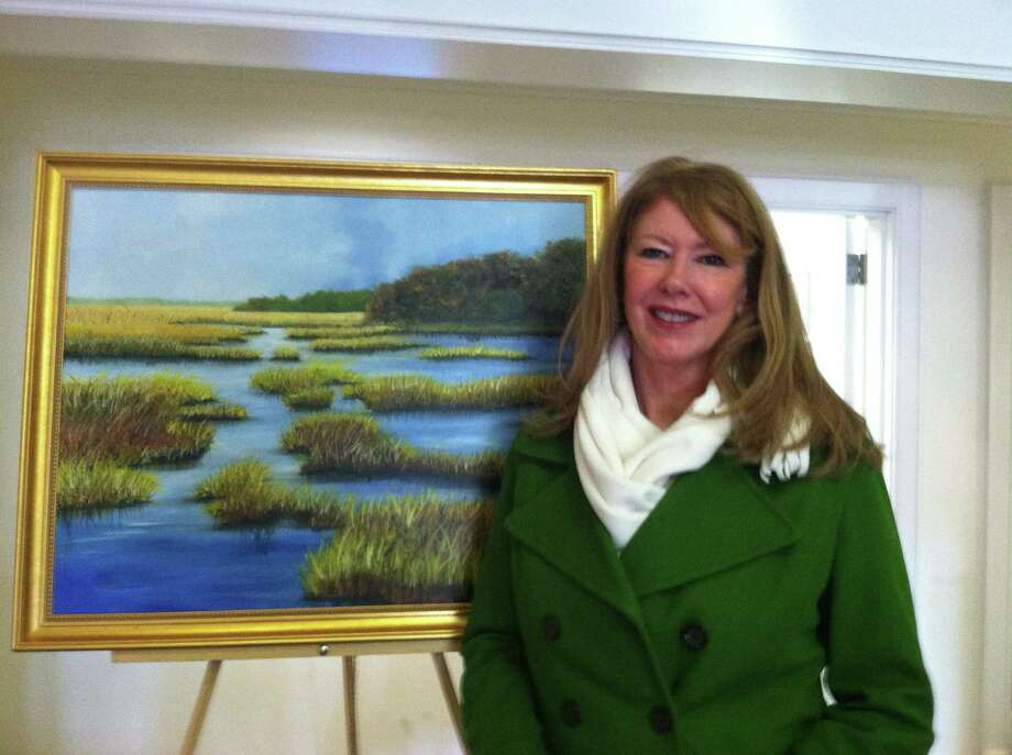 Artist Lynne Stitzel Tiano will have her work on display at the Darien branch of Darien Rowayton Bank, 1001 Post road, throughout February. Photo: Contributed