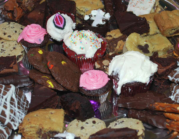 An assortment of goodies ñ brownies, cookies, chocolate-dipped pretzels and more ñ were among the treats sampled by patrons of the 18th annual Chocolate Fest, hosted by the Kent Center School Scholarship Fund committee Feb. 6, 2013 at Kent Center School. Photo: Deborah Rose