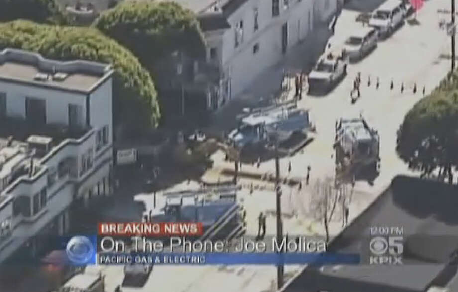 A gas leak in San Francisco's Mission District caused a major evacuation in the area. Photo: CBS San Francisco