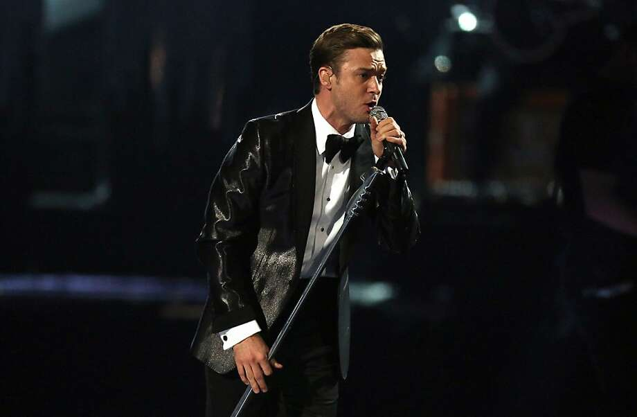 Justin Timberlake performs on stage during the BRIT Awards 2013 at the o2 Arena in London on Wednesday, Feb. 20, 2013. (Photo by Joel Ryan/Invision/AP) Photo: Joel Ryan, Associated Press