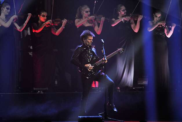 LONDON, ENGLAND - FEBRUARY 20:  Matthew Bellamy of Muse performs on stage during the Brit Awards 2013 at the 02 Arena on February 20, 2013 in London, England.  (Photo by Matt Kent/Getty Images) Photo: Matt Kent, Getty Images