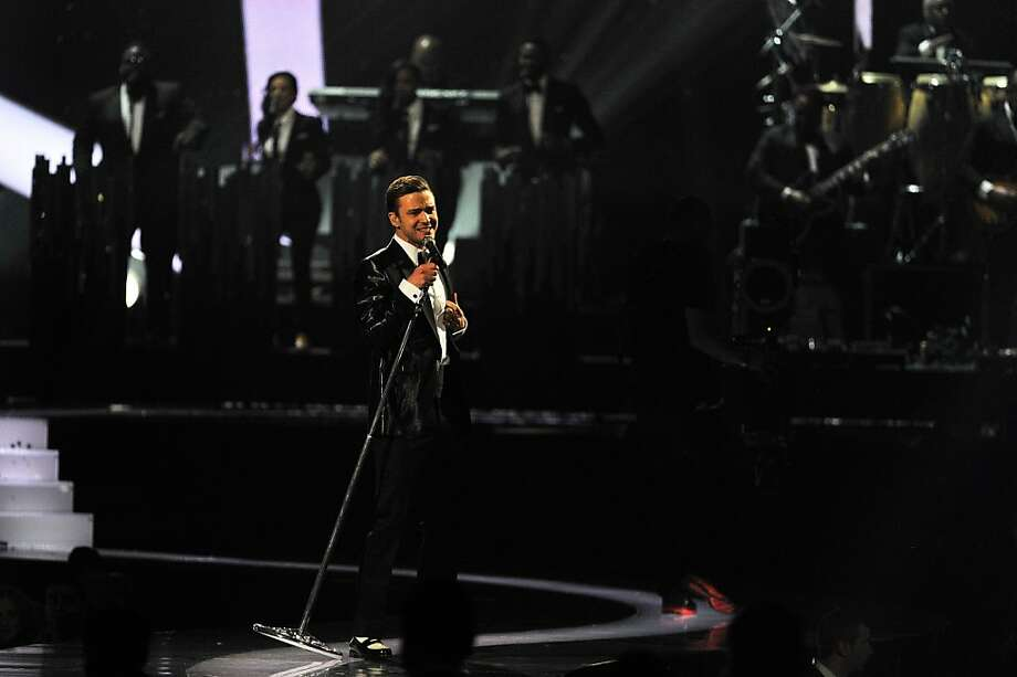 LONDON, ENGLAND - FEBRUARY 20:  Justin Timberlake performs on stage during the Brit Awards 2013 at the 02 Arena on February 20, 2013 in London, England.  (Photo by Matt Kent/Getty Images) Photo: Matt Kent, Getty Images