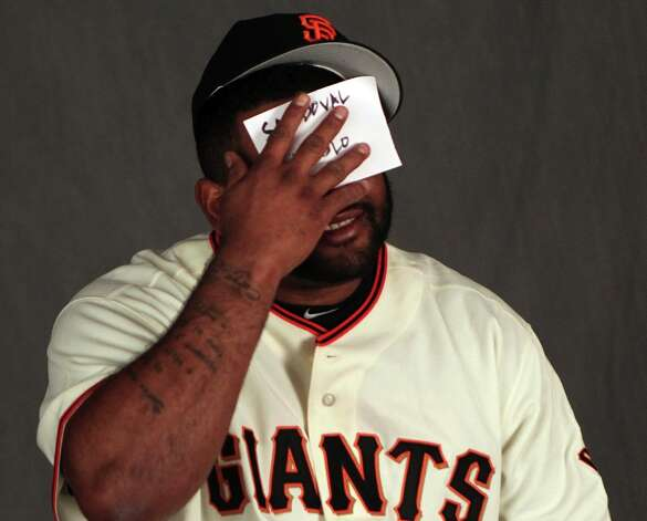 San Francisco Giants infielder' Pablo Sandoval poses for photos during photo day at spring training Wednesday, Feb. 20, 2013, in Scottsdale, Ariz. Photo: Lance Iversen, The Chronicle / ONLINE_YES