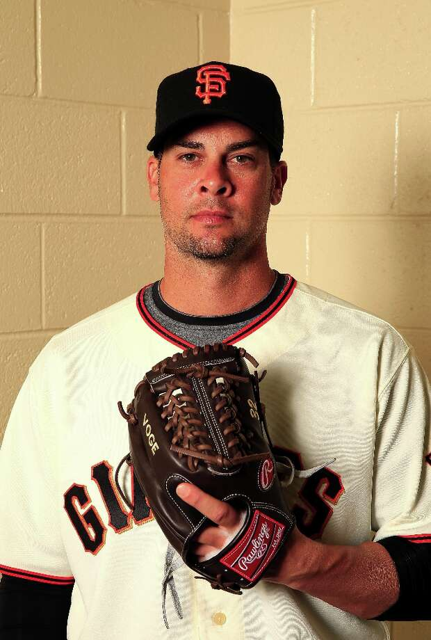 Pitcher Ryan Vogelsong #32 poses for a portrait during San Francisco Giants Photo Day on February 20, 2013 in Scottsdale, Arizona. Photo: Jamie Squire, Getty Images / 2013 Getty Images