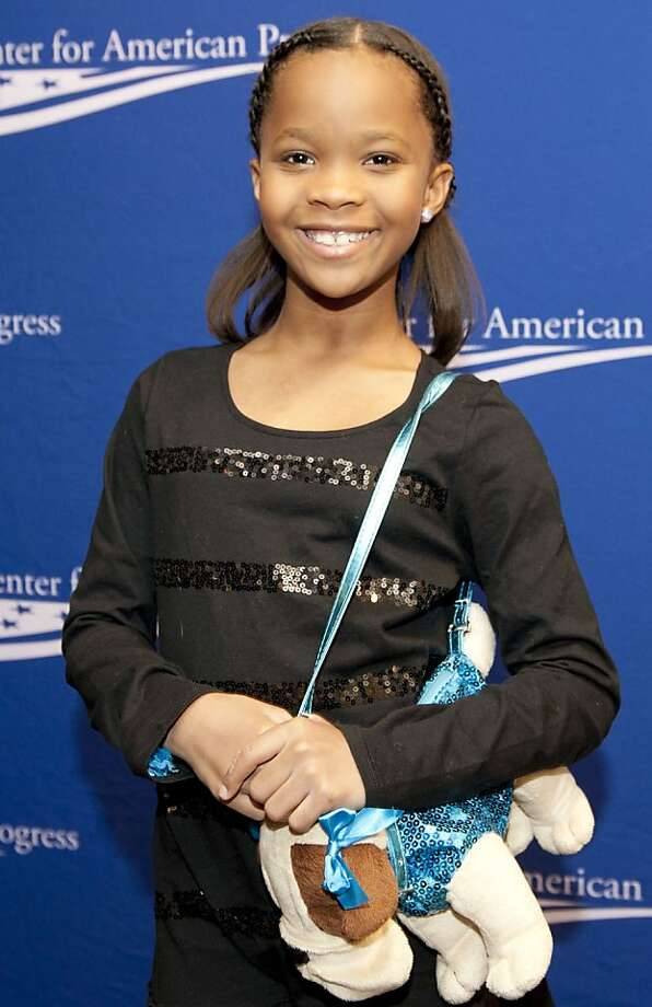 Quvenzhane Wallis, 2013. Still rocking the adorable dog bags. Photo: Leigh Vogel, Getty Images