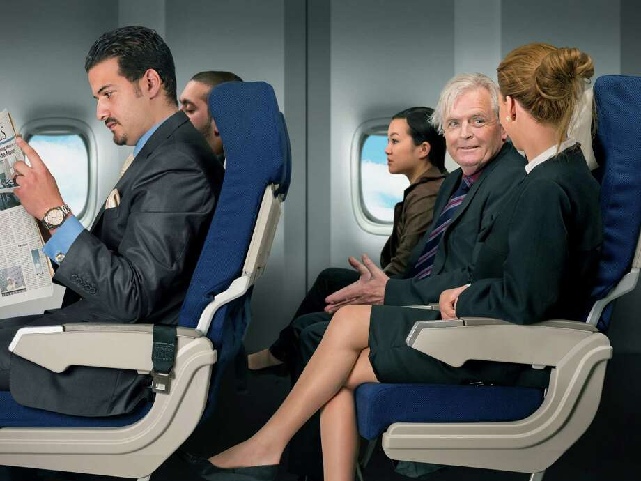15. Over-chatting. Sometimes you make new friends on a flight. That's nice. Sometimes, however, the person next to you can't take your increasingly unsubtle hints that you'd like to just read your book. Photo: Craftvision, Getty Images / (c) craftvision