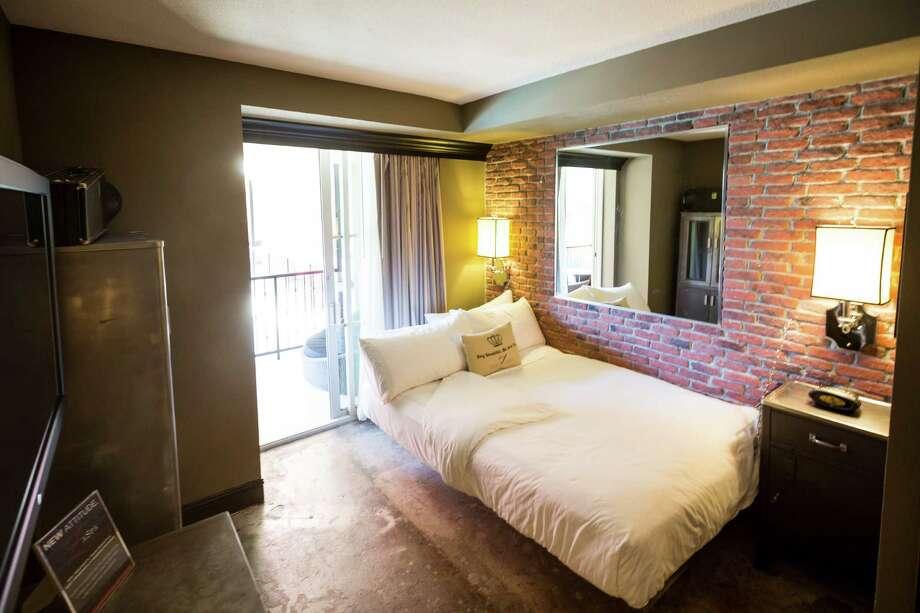 "Room 322 nicknamed ""Hard Times"" at Hotel ZaZa, Tuesday, Feb. 19, 2013, in Houston. ( Michael Paulsen / Houston Chronicle ) Photo: Michael Paulsen, Staff / © 2013 Houston Chronicle"