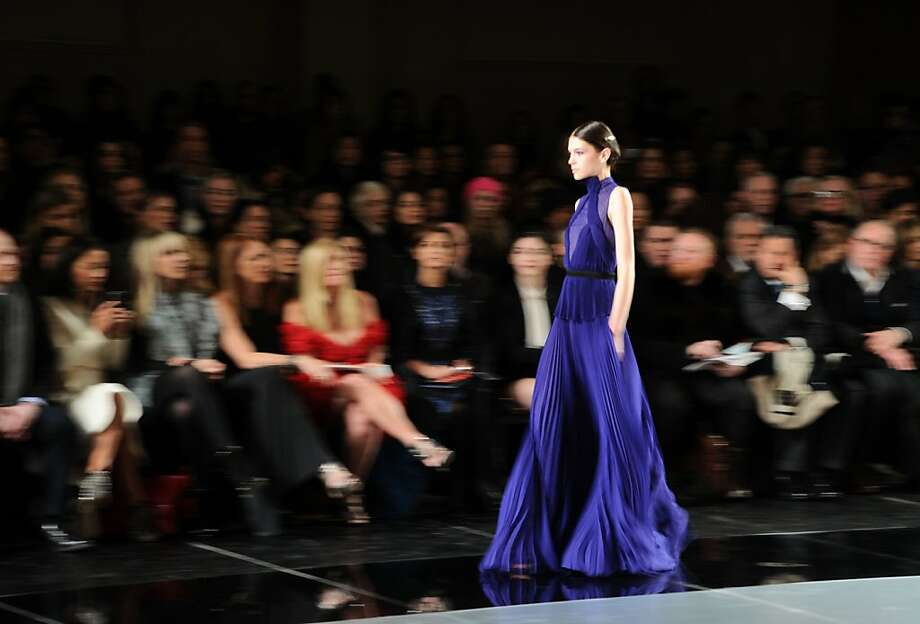 A model walks the runway during the Jason Wu fall 2013 fashion show during Mercedes-Benz Fashion Week on February 8, 2013 in New York City. Photo: Ilya S. Savenok, Getty Images