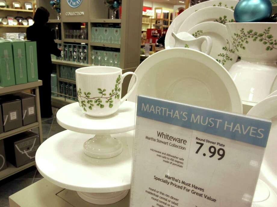 In this Wednesday, Nov. 7, 2007, file photo, Martha Stewart products are displayed in the Macy's store at the Kenwood Towne Centre,  in Cincinnati.  J.C. Penney and Macy's  are expected to duke it out in New York State Supreme Court over the right to sell Martha Stewart merchandise on Wednesday, Feb. 20, 2013. At the heart of the case, slated to begin Wednesday, is whether Macy's has the exclusive right to sell certain Martha Stewart products like some of its cookware, bedding, and bath items. Company founder Martha Stewart, J.C. Penney's CEO Ron Johnson and Macy's CEO Terry J. Lundgren could be called to testify during the trial, which could last three weeks. (AP Photo/Al Behrman) Photo: Al Behrman
