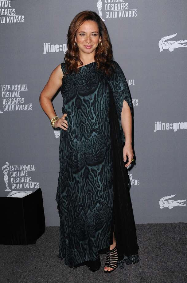 Maya Rudolph arrives at the 15th Annual Costume Designers Guild Awards at The Beverly Hilton Hotel on Tuesday, Feb. 19, 2013 in Beverly Hills. (Photo by Jordan Strauss/Invision/AP) Photo: Jordan Strauss, Associated Press / Invision