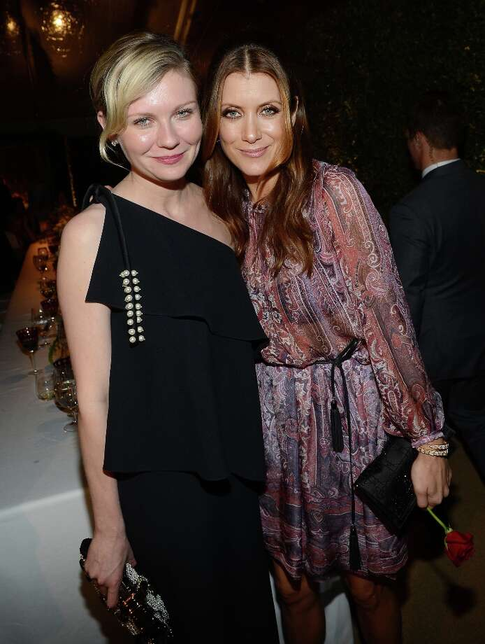 Actresses Kirsten Dunst (L) and Kate Walsh wearing BVLGARI arrives at the BVLGARI celebration of Elizabeth Taylor's collection of BVLGARI jewelry at BVLGARI Beverly Hills on February 19, 2013 in Los Angeles, California. Photo: Michael Buckner, Getty Images For Bulgari / 2013 Getty Images