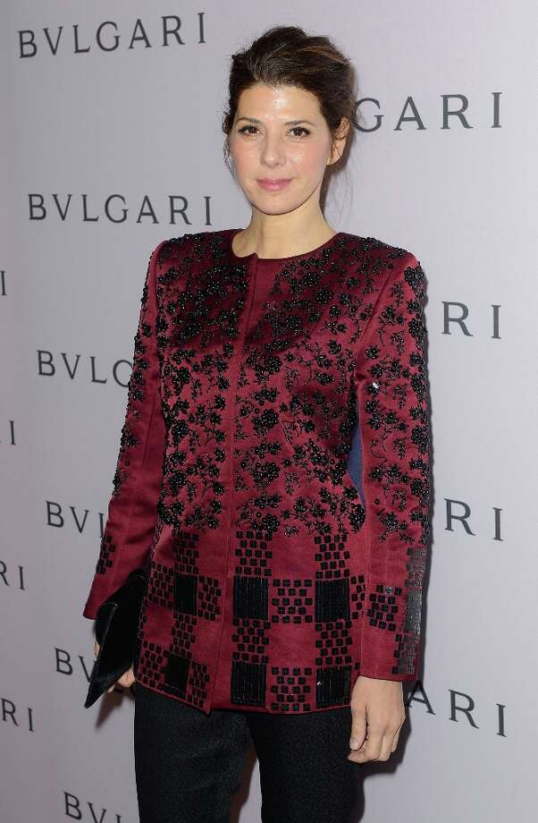 Actress Marisa Tomei, wearing BVLGARI, arrives at the BVLGARI celebration of Elizabeth Taylor's collection of BVLGARI jewelry at BVLGARI Beverly Hills on February 19, 2013 in Los Angeles, California. Photo: Mark Davis, Getty Images / 2013 Getty Images