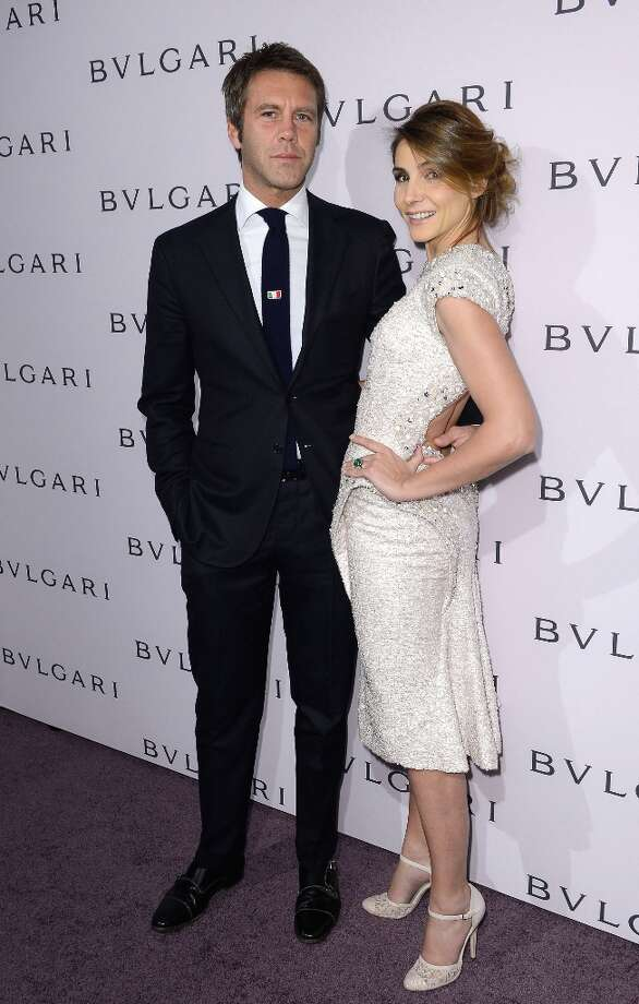 Prince Emanuele Filiberto di Savoia and Princess Clotilde Courau, wearing BVLGARI, arrive at the BVLGARI celebration of Elizabeth Taylor's collection of BVLGARI jewelry at BVLGARI Beverly Hills on February 19, 2013 in Los Angeles, California. Photo: Mark Davis, Getty Images / 2013 Getty Images