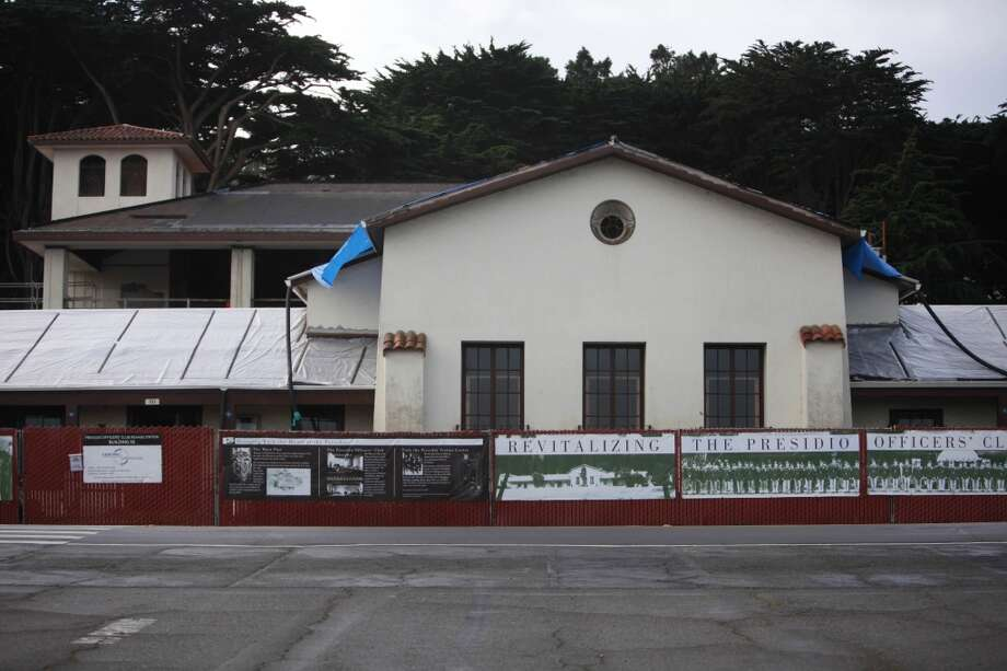 The Presidio Officer's Club, which is undergoing a historic rehabilitation.