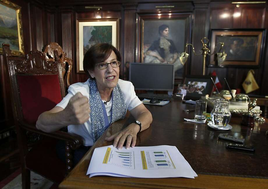 Susana Villaran, the first-ever woman to be Lima's mayor, has focused on rooting out corruption, revamping infrastructure and supporting gay rights. Photo: Martin Mejia, Associated Press