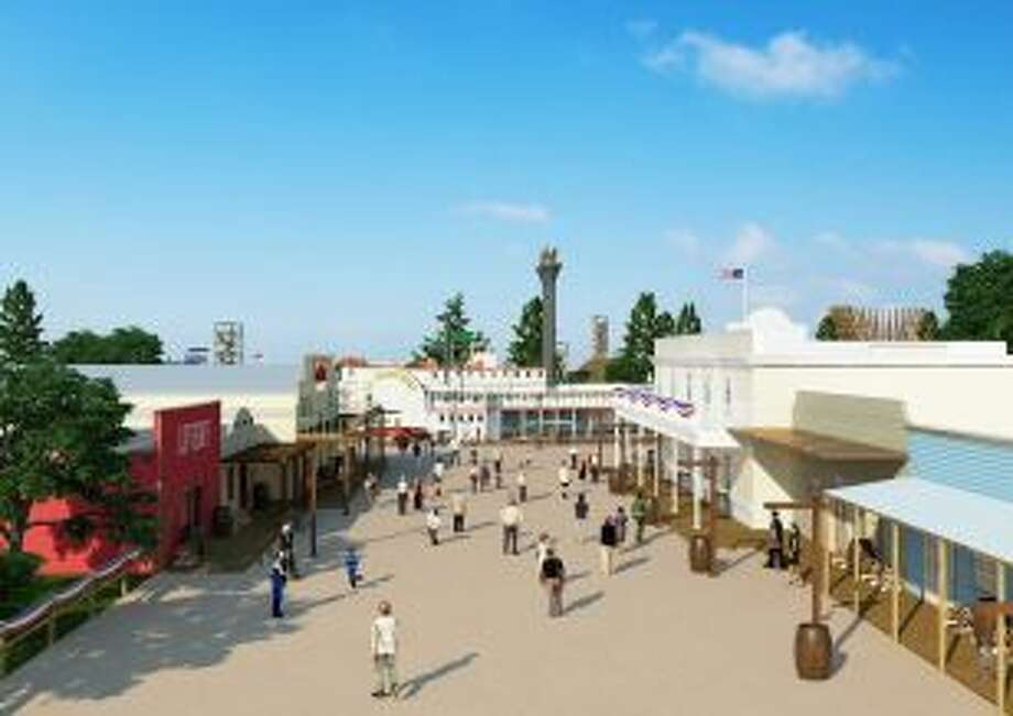 Developers hope an empty, heavily wooded plot of land in New Caney will transform into a thriving entertainment district by 2015 - complete with a theme park, water park and a new dining and music scene and more elaborate attractions. Photo: Courtesy Grand Texas