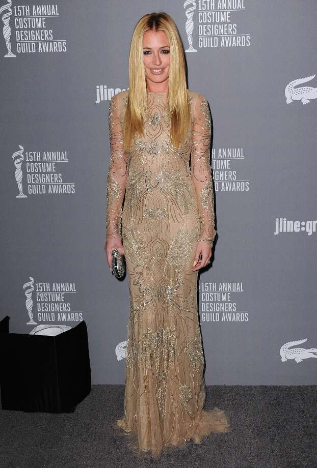 Cat Deeley arrives at the 15th Annual Costume Designers Guild Awards at The Beverly Hilton Hotel on Tuesday, Feb. 19, 2013 in Beverly Hills. (Photo by Jordan Strauss/Invision/AP) Photo: Jordan Strauss, Associated Press / Invision