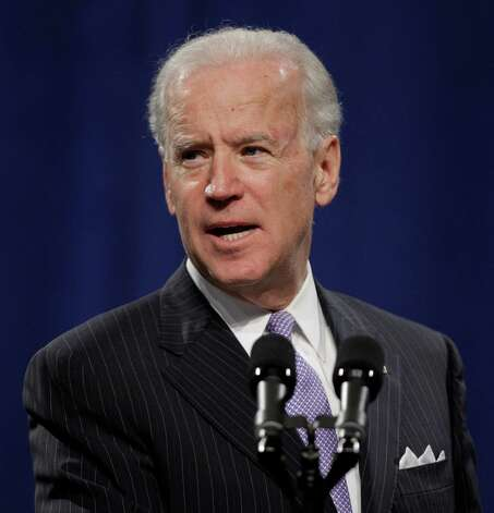 Vice President Joe Biden speaks at the House Democratic Issues Conference in Leesburg, Va., Wednesday, Feb. 6, 2013. (AP Photo/Luis M. Alvarez) Photo: Luis Alvarez, Associated Press / FR596 AP