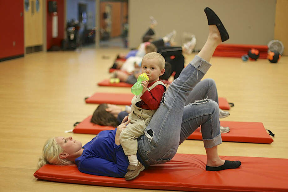 Mommy & Me Fitness Class is held at the Enrique Barrera Fitness Center. Photo: Courtesy Photo