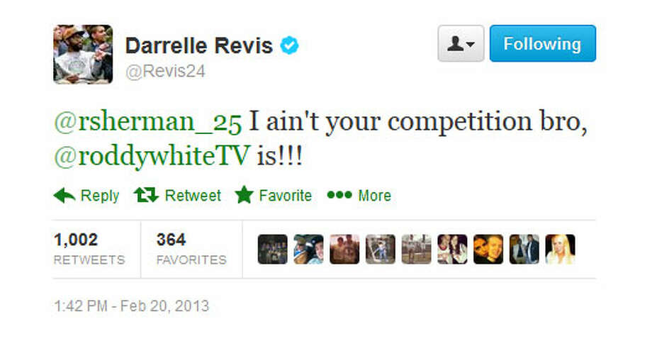 Revis keeps going.