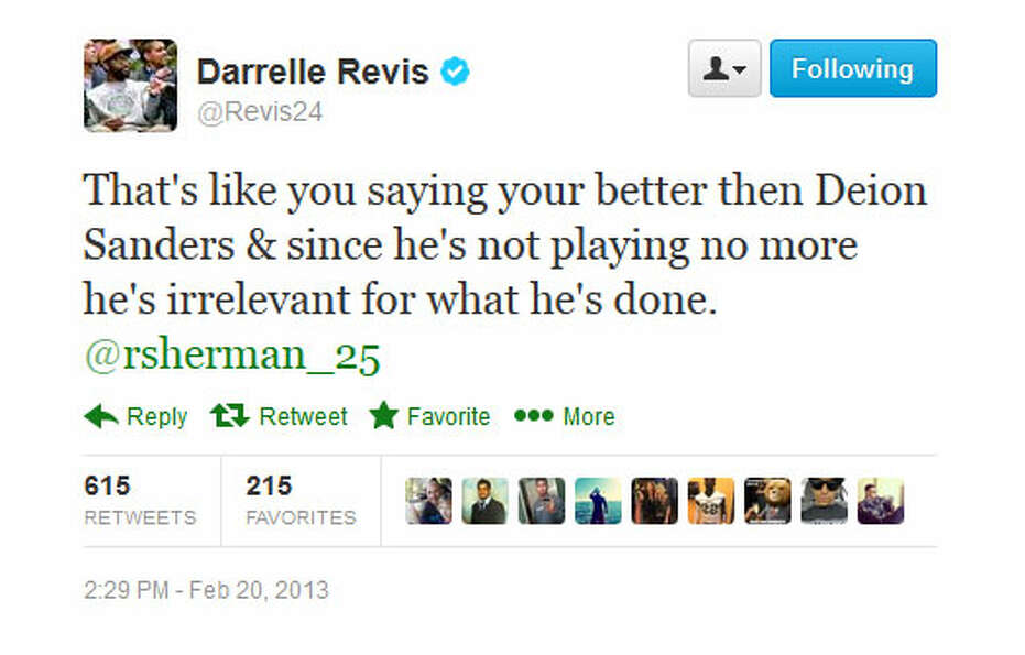 Revis gets back into it, insinuating the fact he only played in two games last season.