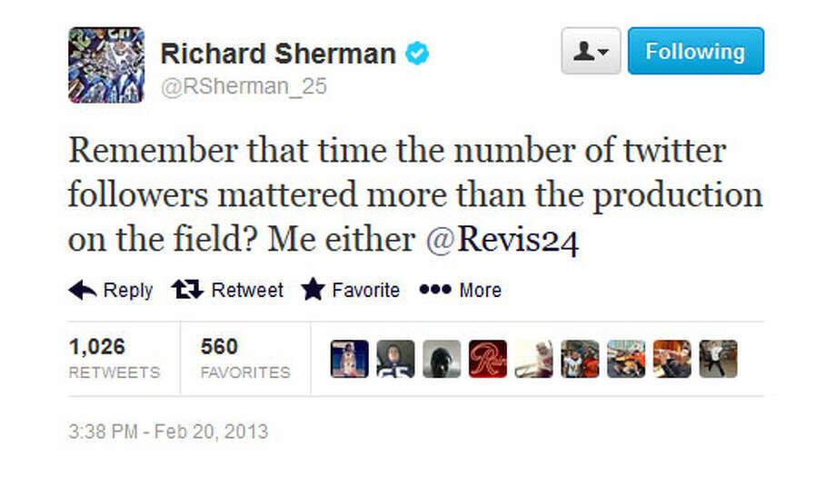 Sherman fires back.
