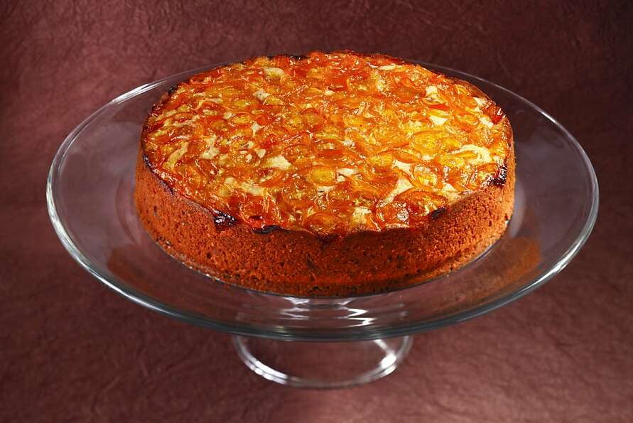 Candied Kumquat Almond Cake